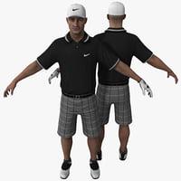 golfer golf 3d max