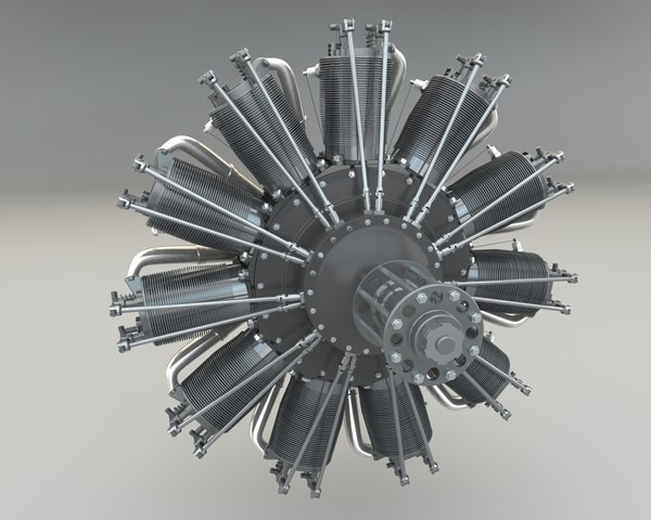 3d model rotary engine