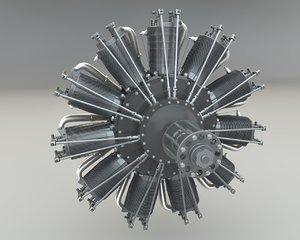 3d model rotary engine