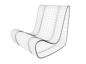 mid-century modern loop 3d 3ds
