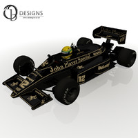 3d model of ayrton senna 98t
