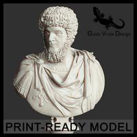 3d model printable lucius verus emperor