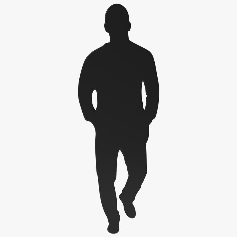 man silhouette 2 max