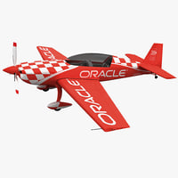 monoplane extra300l oracle rigged 3d model