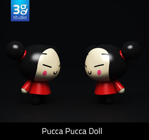 3ds max pucca doll animation