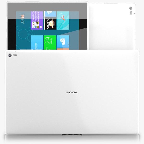 nokia lumia 2520 3d model