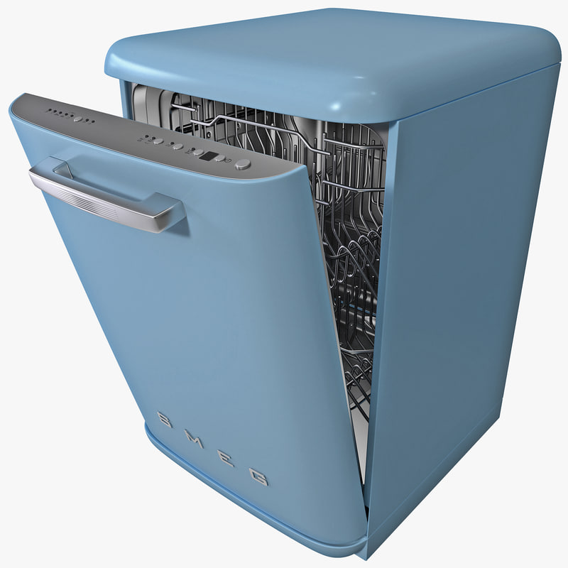 3d retro diswasher model