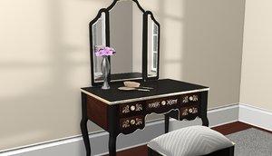 vanity wood 3ds