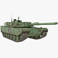 south korean main battle tank 3d c4d