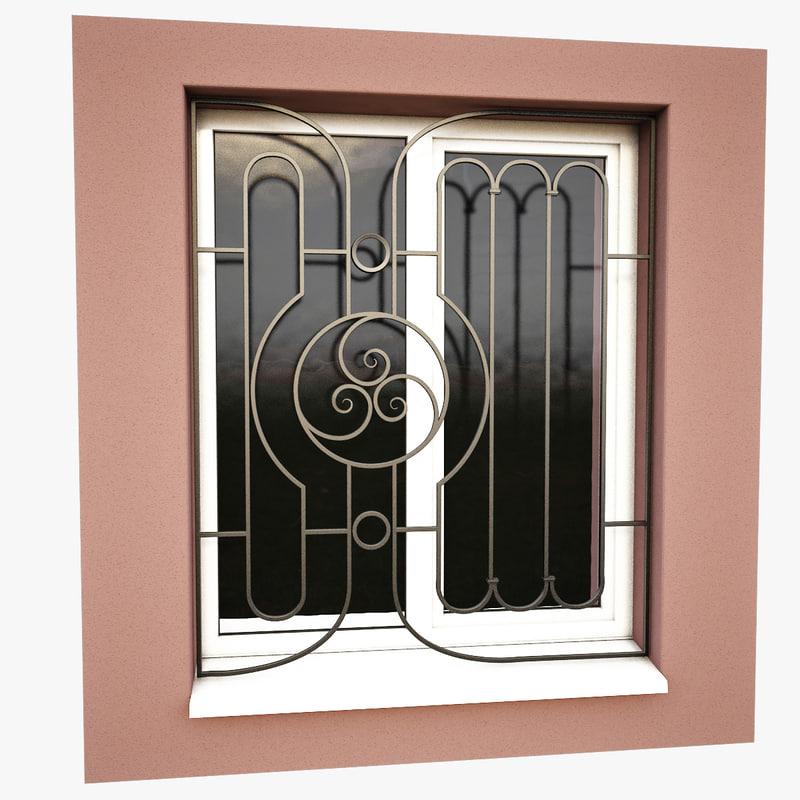 windows security bars obj