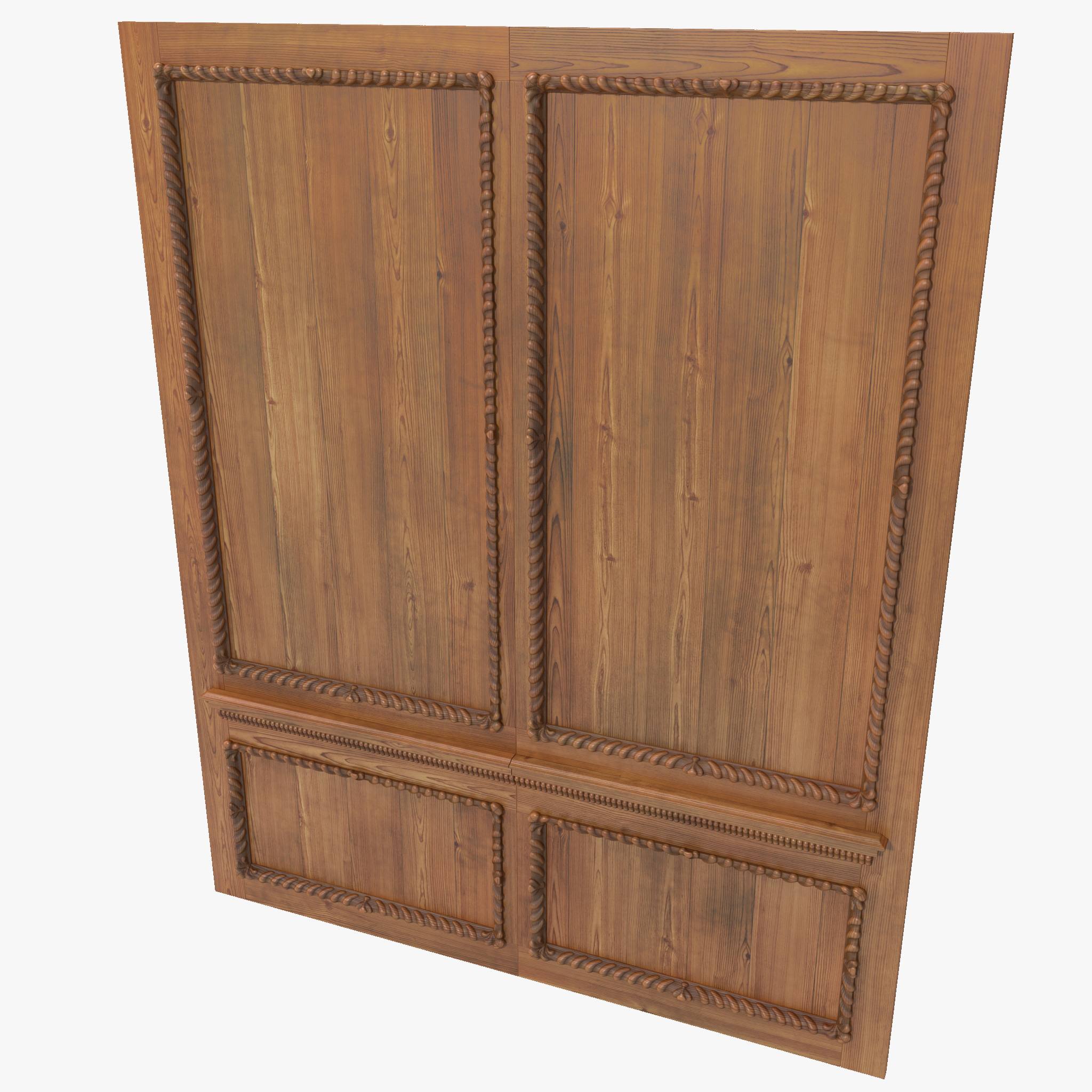 3d model wooden panelling