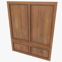 3d model wooden panelling