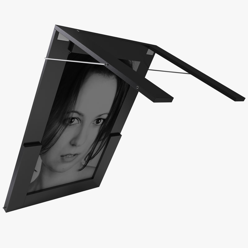 3d model work table picture frame