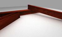 3d model supportng beam