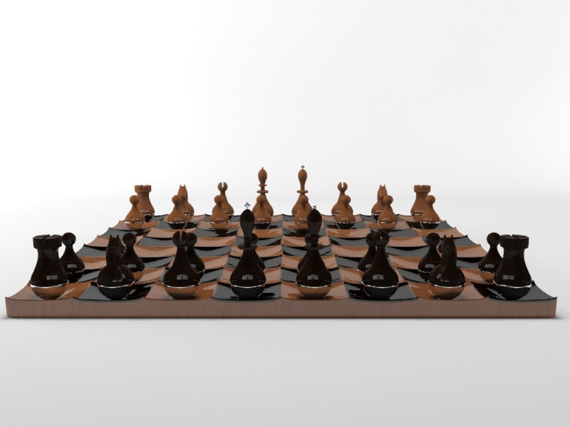3d max rounded special chess set