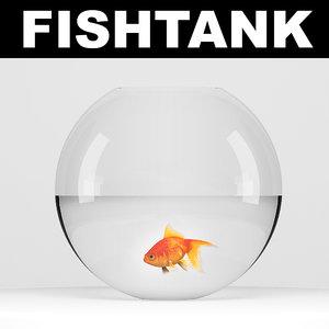 goldfish fish 3d max
