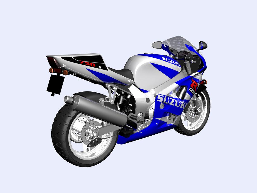 3d motorcycle suzuki model