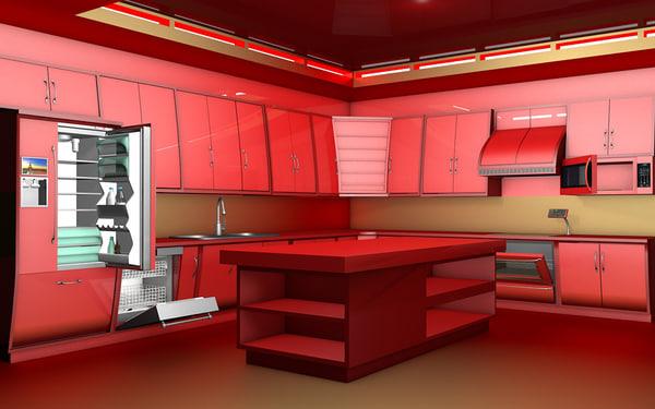 kitchen c4d