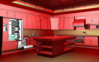 kitchen c4d