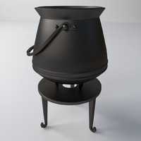 3d cauldron model