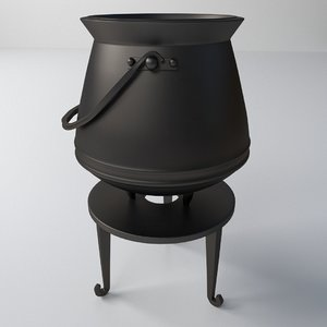 3d cauldron model