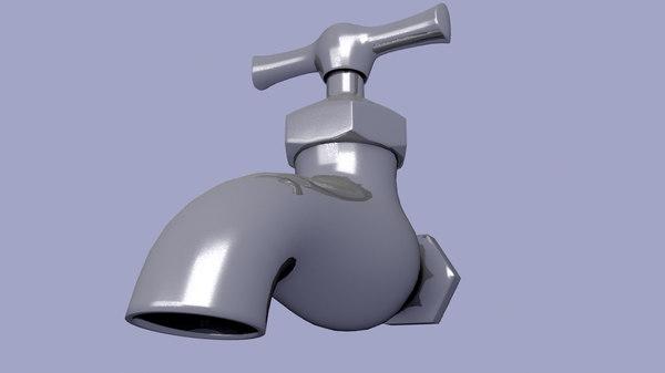 water faucet 3d 3ds