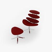 3d corona chair model