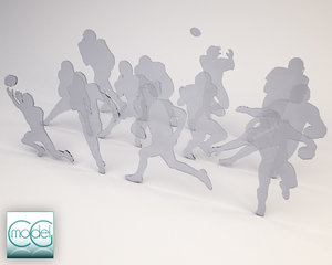 3d model silhouette people