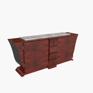3d model sideboard 1930 art