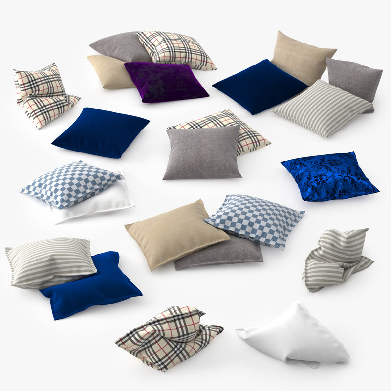 set pillows 3d max