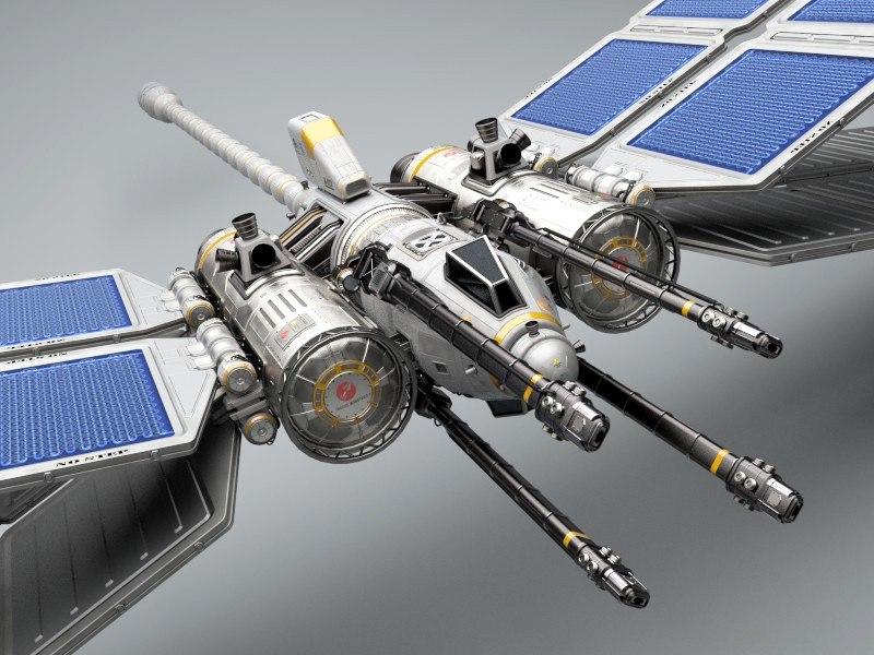 space fighter 3d obj