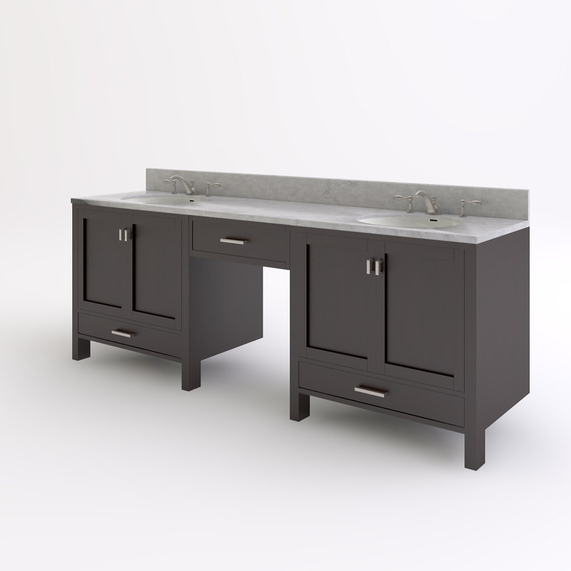3d master bathroom vanity model