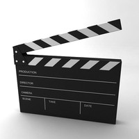 clapper board clap 3d model