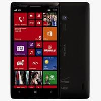 nokia lumia icon black 3d model