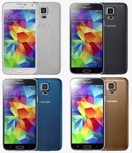 3d samsung galaxy s5 color model