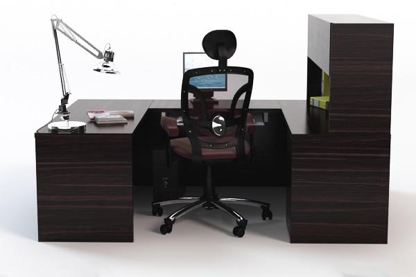 3d computer desk chair props