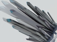 3d max cristal sculpture design