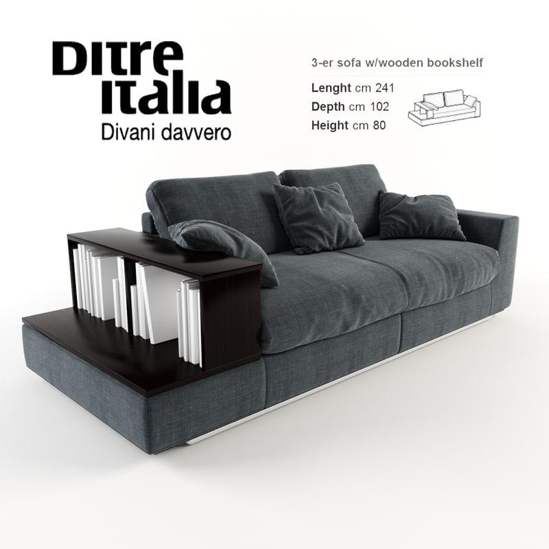 3d ditre italia sofa bijoux model for Divano ditre bijoux
