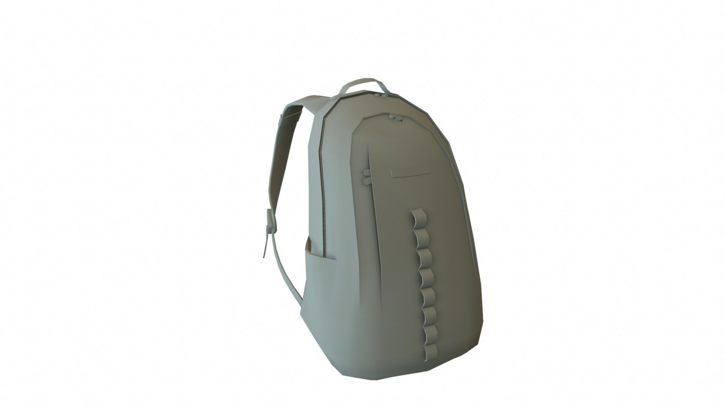 low-poly backpack 3d model