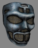 3d model metal mask polys