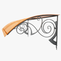 wrought iron awning 3d max