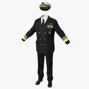 3d model admiral uniform