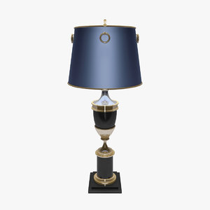 antique table lamps empire 3d max