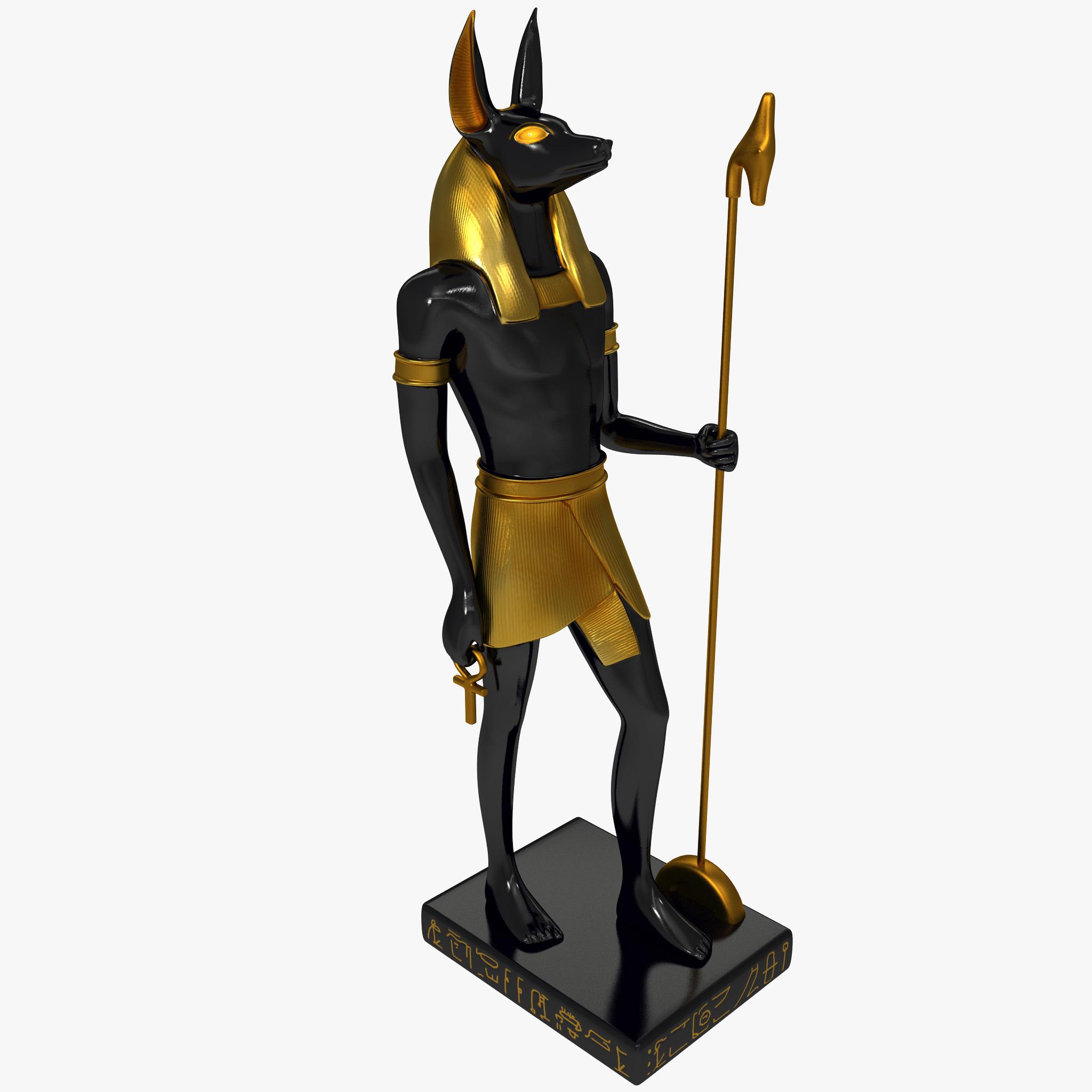 3d anubis statue