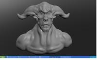 bull man 3d model