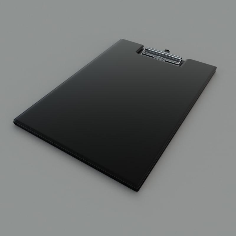 clipboard folder 3d model