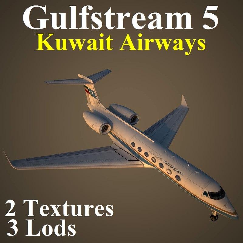 3d gulfstream 5 kac model