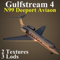 3d model gulfstream 4 n99