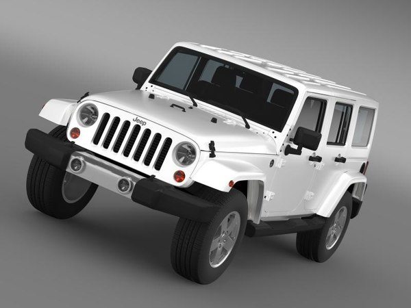3ds max jeep wrangler unlimited 2011