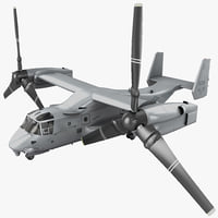 Military Tiltrotor Aircraft MV-22 Osprey Rigged